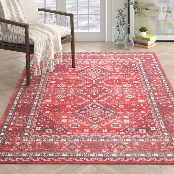 Bomford Power Loom Cotton Red Area Rug Reviews Joss Main