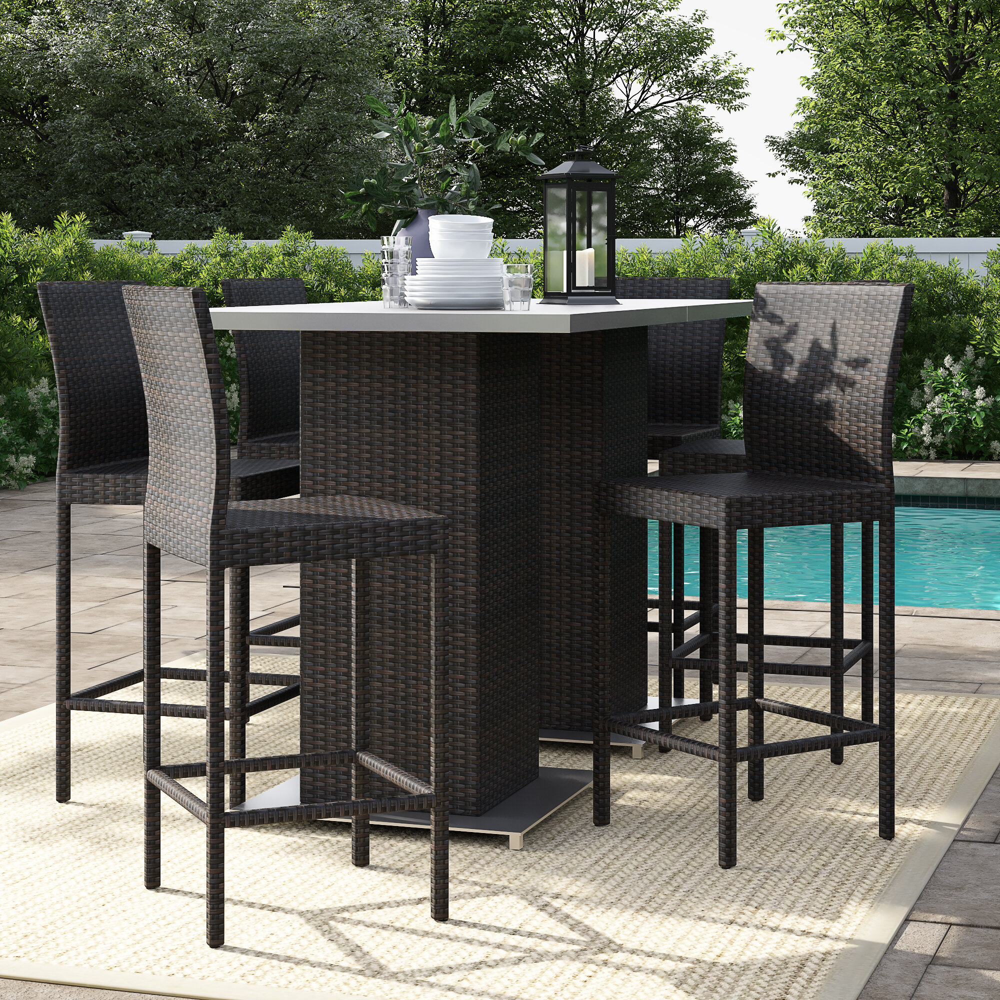 Picture of: Sol 72 Outdoor Fernando 8 Piece Bar Height Dining Set