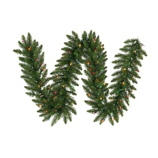 9' Camdon Fir Prelit Garland With 50 Multi-colored Lights