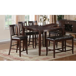 Kaneshiro 6 Piece Counter Height Dining Set by Alcott Hill New Design