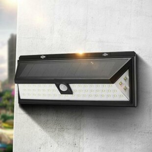 Security Light LED Solar Outdoor Bulkhead Light By Symple Stuff
