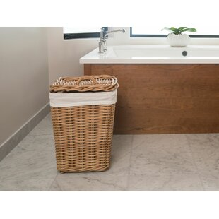 Rattan Laundry Hamper By Rosecliff Heights