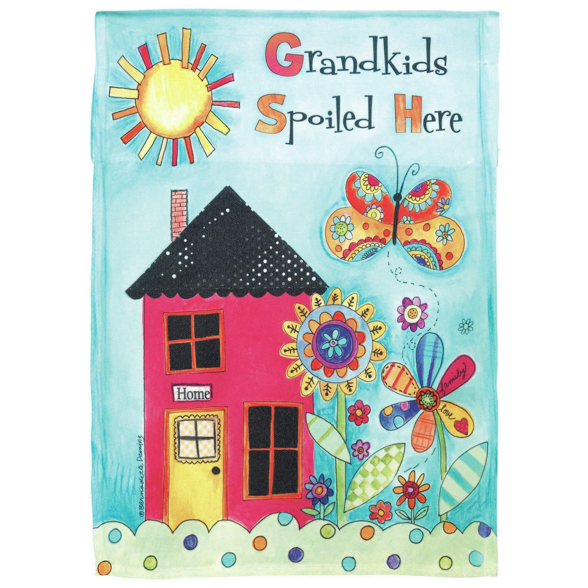 Dicksonsinc Grandkids Spoiled Here 2 Sided Polyester 44 X 30 In Garden Flag Wayfair