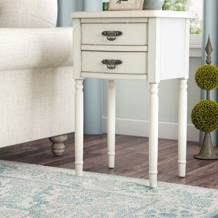 Clever End Table With Storage by Lark Manor