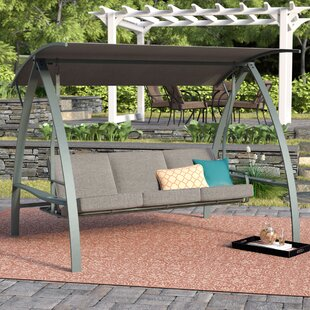 Andover Mills Marquette 3-Seat Daybed Porch Swing with Stand