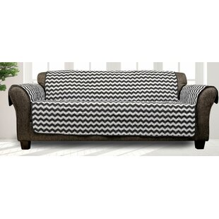 Printed T-Cushion Sofa Slipcover By Winston Porter