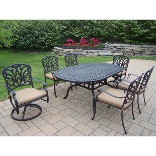 Darby Home Co Bosch Powder Coated 7 Piece Dining Set with Cushions