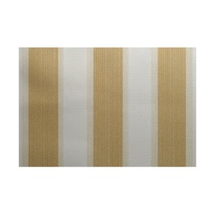 Addyson Stripe Print Gold Indoor/Outdoor Area Rug