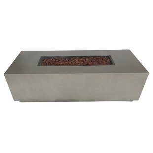 Torch Concrete Propane Fire Pit Table by Teva Furniture Purchase