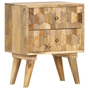 Mahle 2 Drawer Bedside Table By World Menagerie