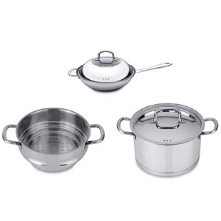 CollectNCook 5 Piece Non-Stick Vegetable Stir-Fry Cookware Set