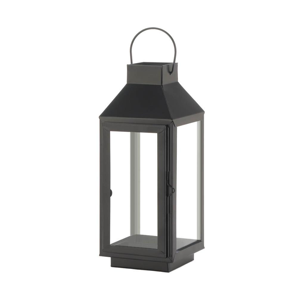 Breakwater Bay Square Top Glass And Metal Lantern Reviews Wayfair