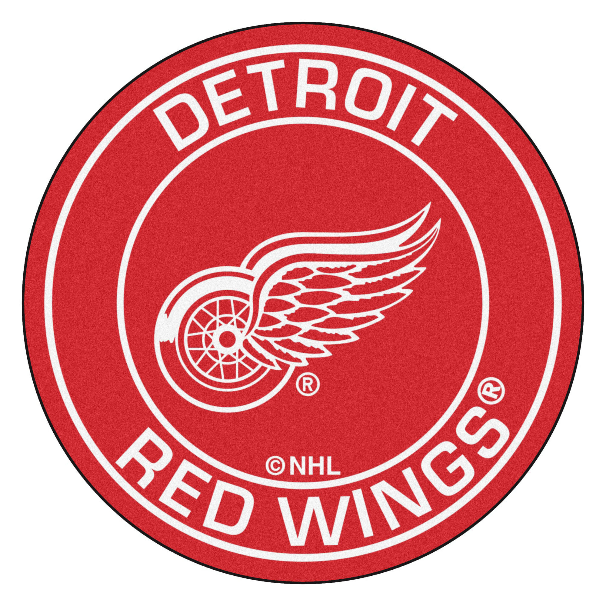 FANMATS NHL Detroit Red Wings Nylon Face All-Star Rug