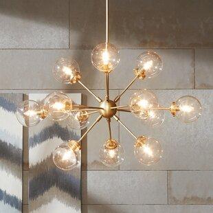 Mid century modern chandeliers youll love wayfair benites 12 light sputnik chandelier aloadofball Gallery