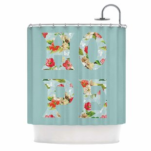'Hope' Single Shower Curtain