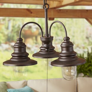 Breen 3-Light Shaded Chandelier by Three Posts