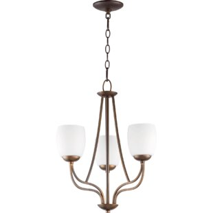 Mcguire 3-Light Shaded Chandelier by World Menagerie