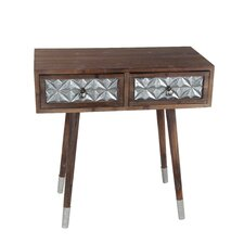 Maastricht Wood Iron 2 Drawer Nightstand by Bungalow Rose