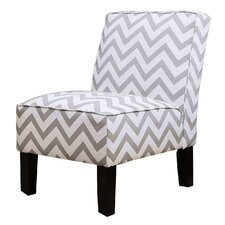 Indus Chevron Slipper Chair by Latitude Run
