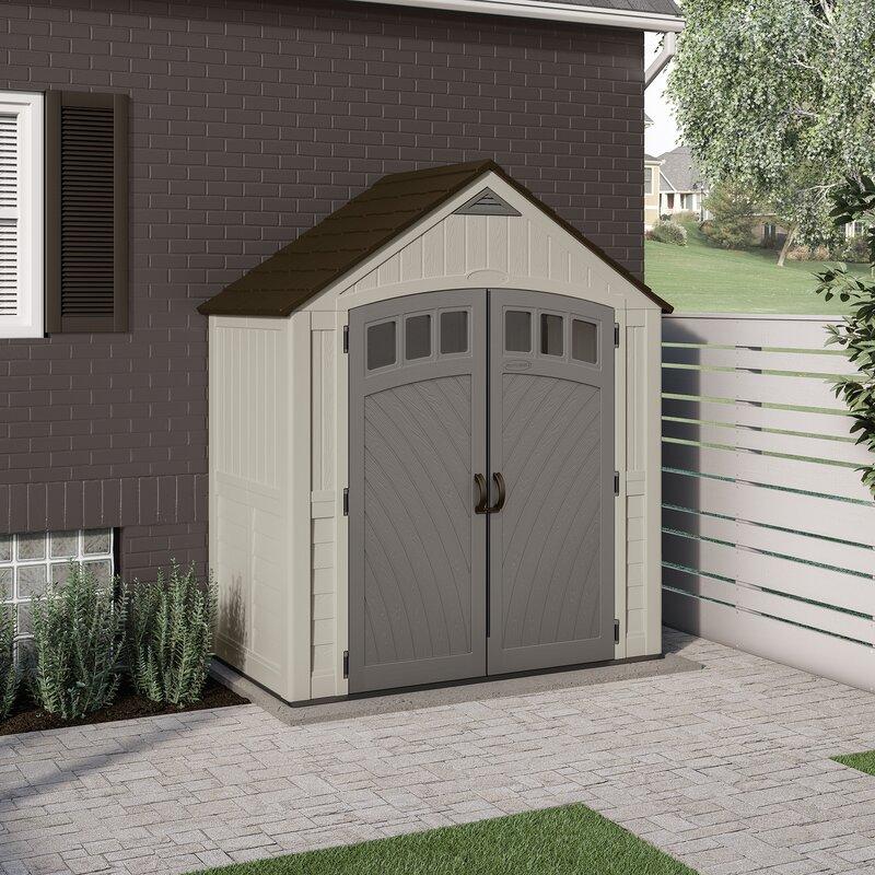 Suncast Outdoor Covington 7 1/2 ft. W x 4 ft. D Storage Shed