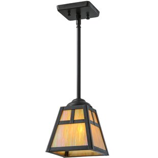 T Mission 1-Light Lantern Pendant by Meyda Tiffany