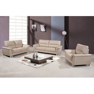 Mathena 3 Piece Living Room Set by Orren Ellis
