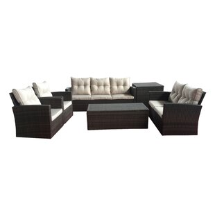 Carlene 6 Piece Sofa Set with Cushions