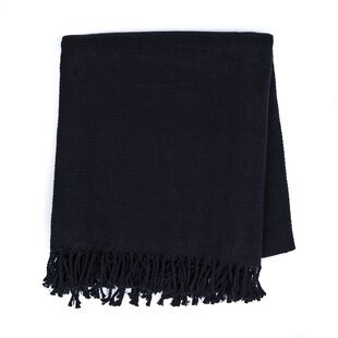 Croskey Solid Fringe Cotton Throw
