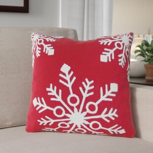 Snowflakes Rice Stitch Throw Pillow