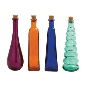 4 Piece Stopper Decorative Bottle Set