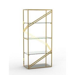 Neppie Stainless Steel Frame Geometric LED Light Shelf By Everly Quinn