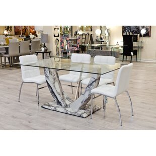 Eunice Dining Set With 4 Chairs By Ebern Designs