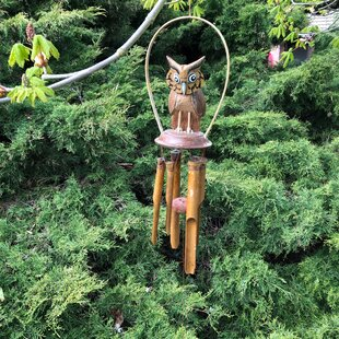 Middleham Owl Wind Chime By Sol 72 Outdoor