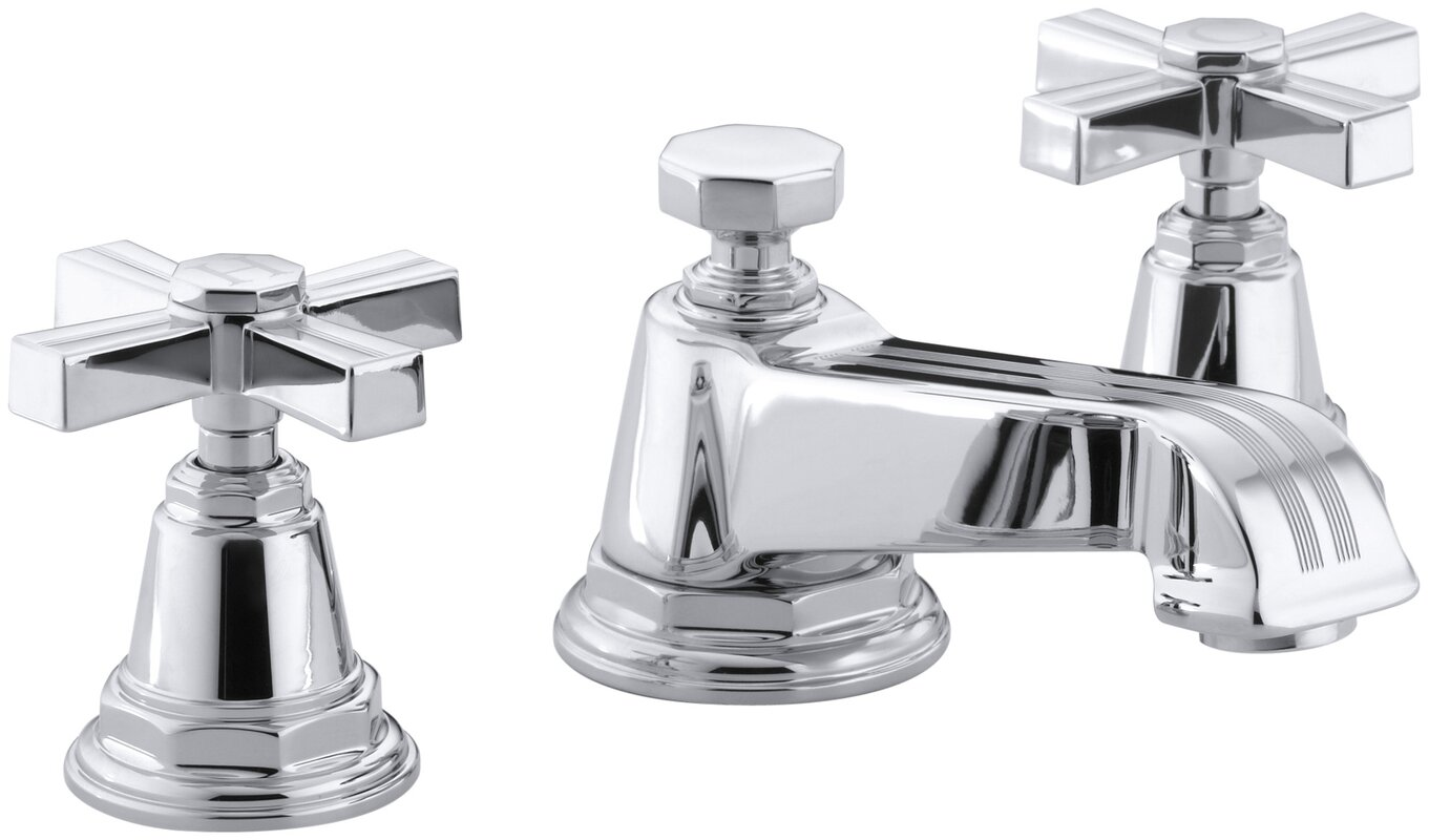 K-13132-3B-BN,CP,SN Kohler Pinstripe Widespread Bathroom Sink ...