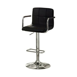 Mendon Adjustable Height Swivel Bar Stool by Orren Ellis