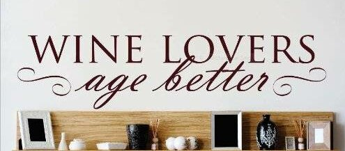 Design With Vinyl Wine Lovers Age Better Beverages Lettering Text Wall Decal Wayfair