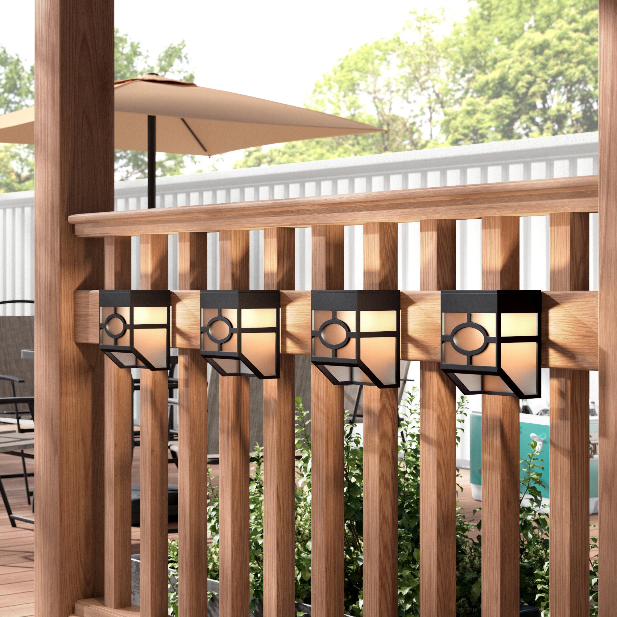 Ebern Designs Cullens Solar Powered Led Deck Light Pack Reviews Wayfair