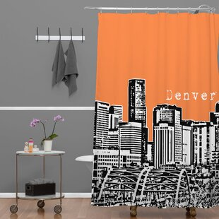 Bird Ave Denver Single Shower Curtain