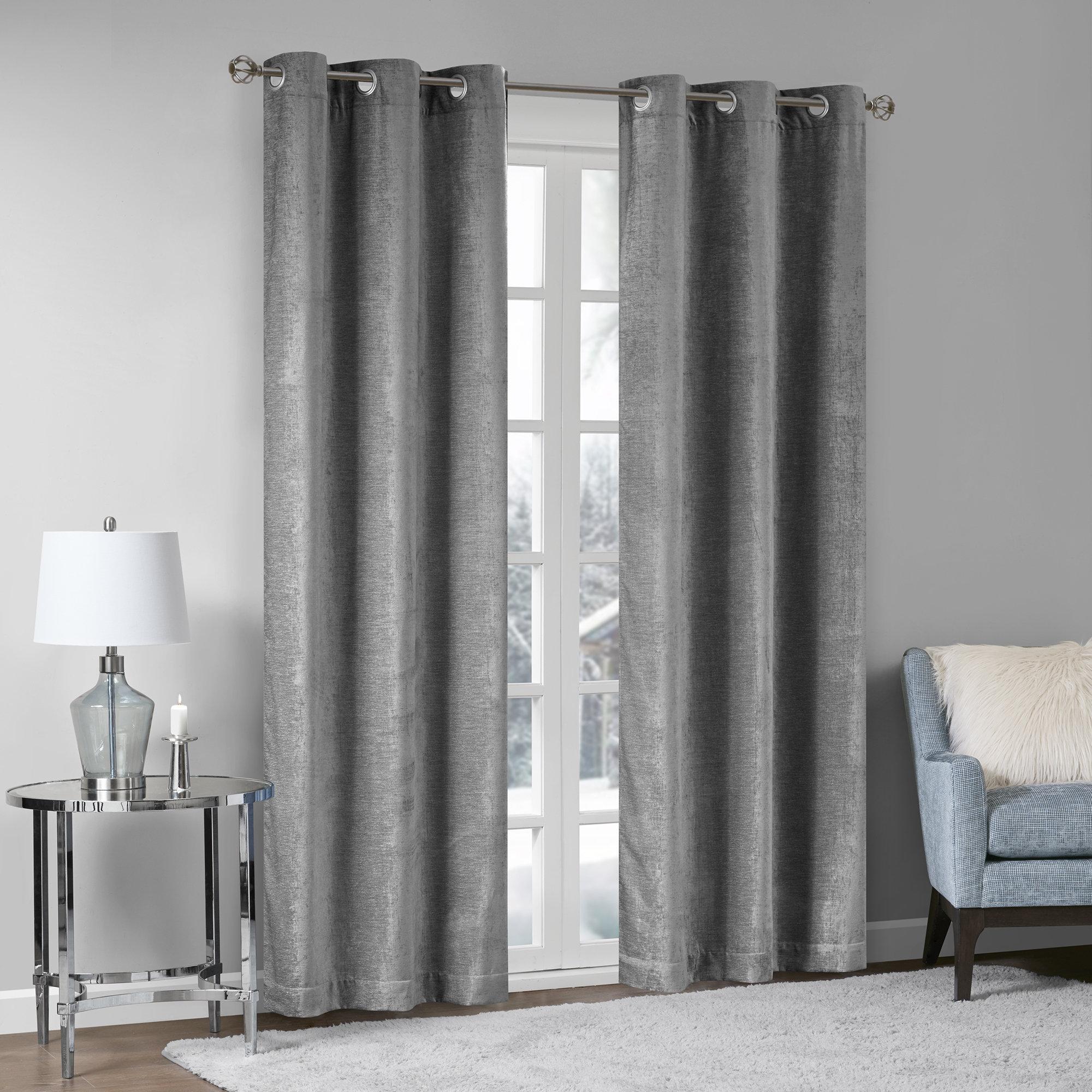 Modern Eyelet Curtain For Living Room Bedroom Laser Cut Window Treatment