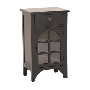 Wooden Accent Cabinet with Glass Insert by Heather Ann Creations