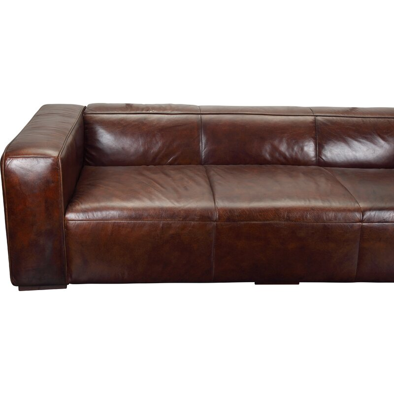 Union Rustic Sherron Leather Sofa & Reviews   Wayfair