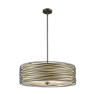 Z-Lite Cotner 4-Light Drum Pendant