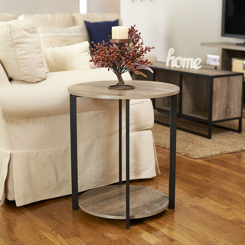 Elegant Ryanda Round Low End Table