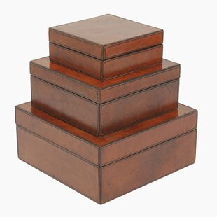 Best Price Coventry Square Nested Wood Boxes (Set of 3) ByLoon Peak