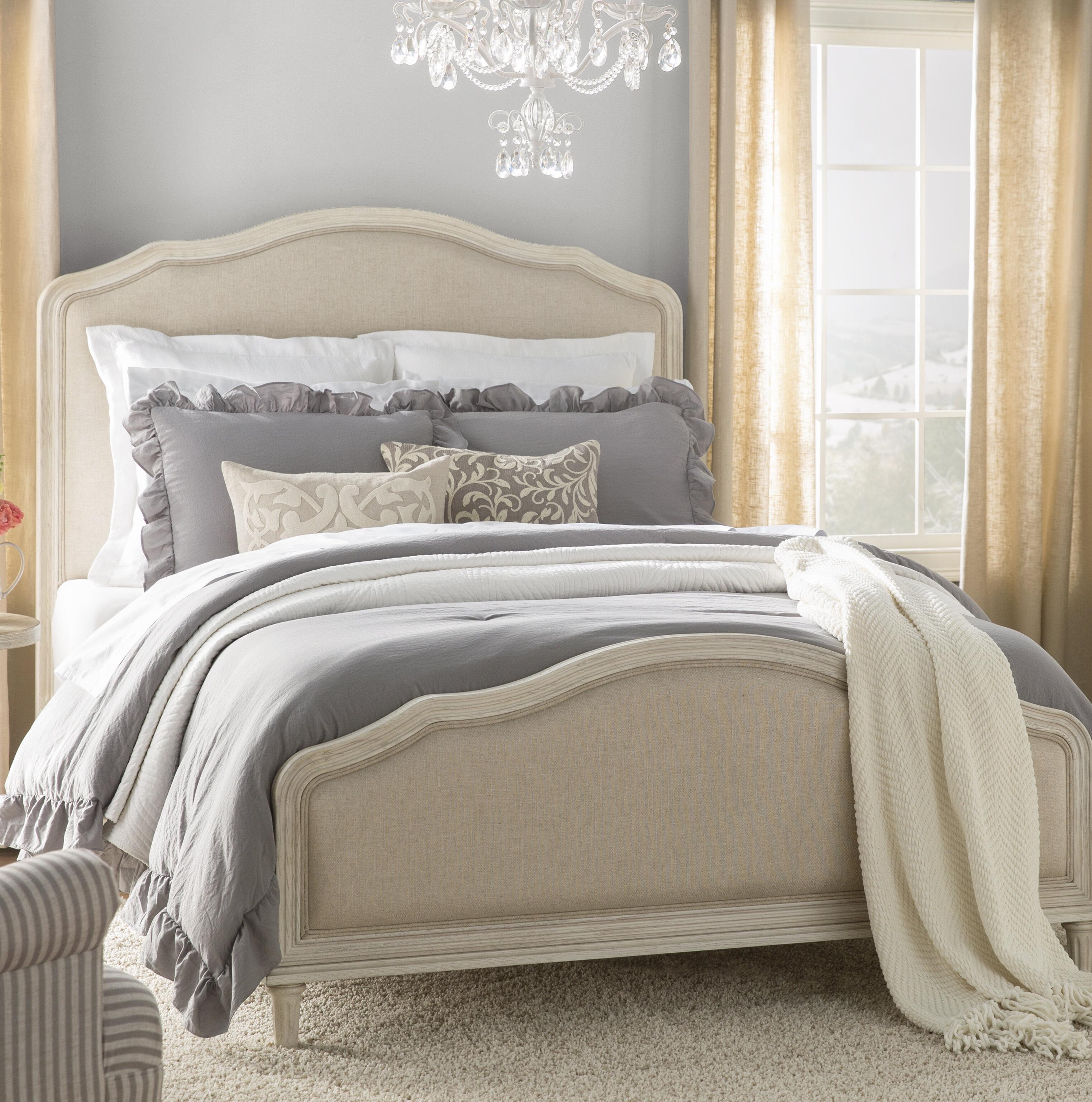 Romaine Upholstered Standard Bed Reviews Joss Main