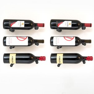 VintageView Vino Pins 6 Bottle Wall Mounted Wine Bottle Rack