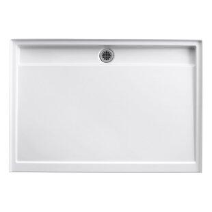 Reviews Groove 60 x 42 Single Threshold Rear Center Drain Shower Base ByKohler