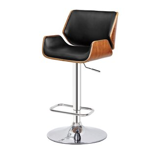 Monette Adjustable Height Swivel Bar Stool Orren Ellis