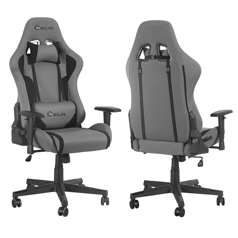 Lintoson Ergonomic Gaming Chair Home Office Chair With Massage Lumbar Support Wayfair
