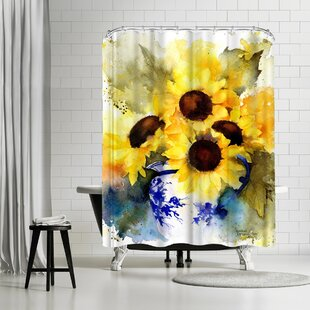 Rachel McNaughton Sunflowers Vase Single Shower Curtain